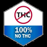100% no THC icon