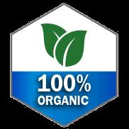 100% organic icon
