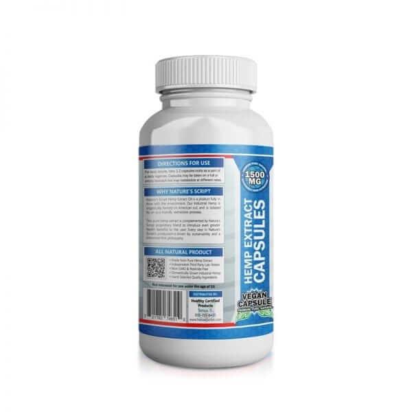 high potency hemp extract capsules left