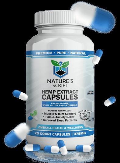 Nature's Script Hemp Extract Capsules