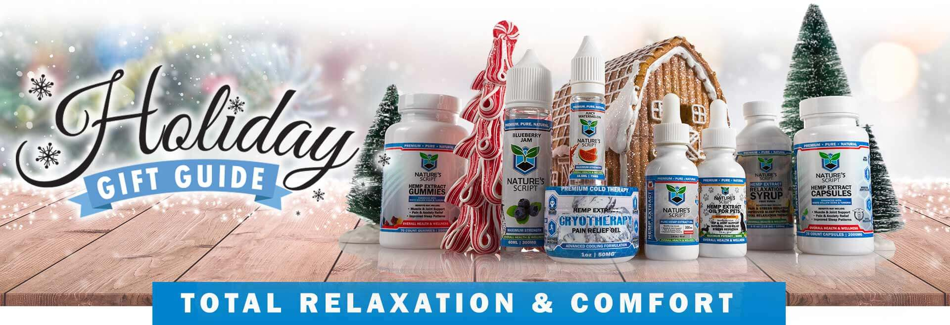 Holiday Gift Guide Nature's Script CBD