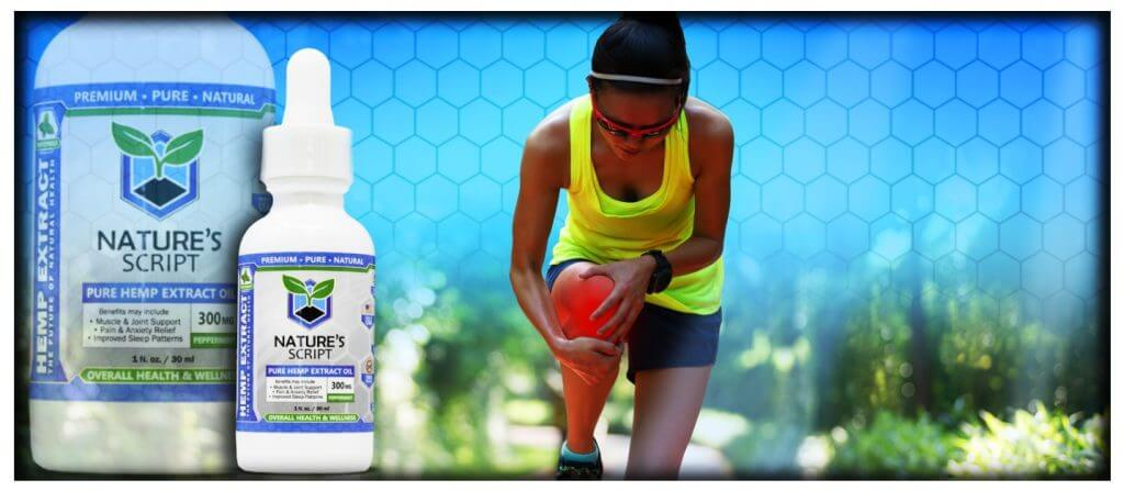 athletic woman holding knee in pain cbd oil for pain preview