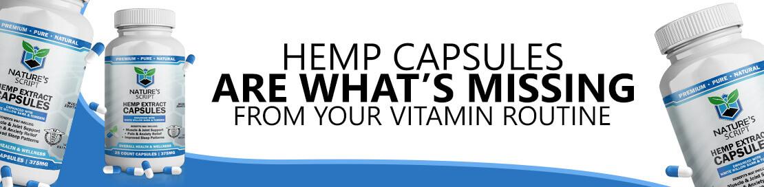 natures script hemp capsules vitamin banner