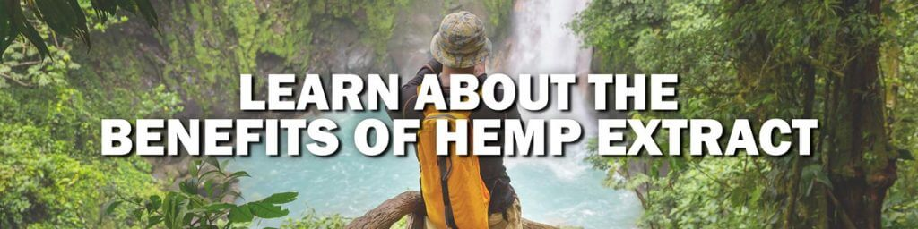 man exploring in nature learn about benefits of hemp extract
