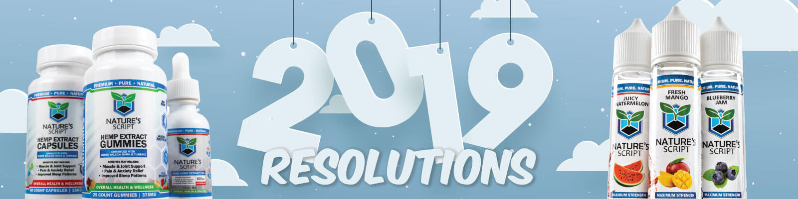 New Year's resolutions natures script products