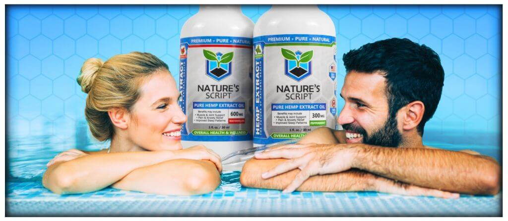 Man and woman in pool CBD Oil for wellness preview