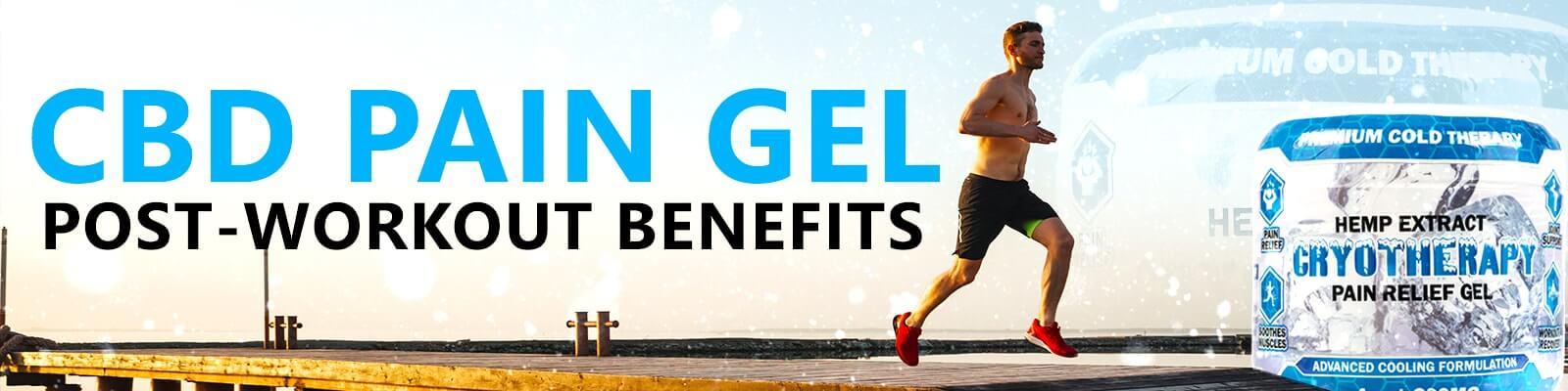 CBD Pain Gel post-workout benefits man running outside