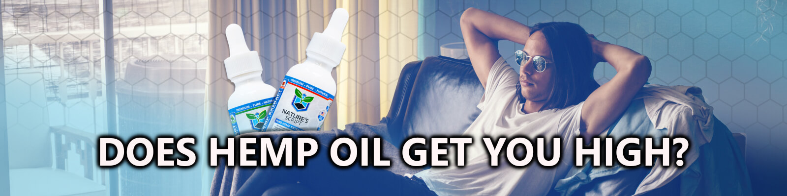 man relaxing on couch does hemp oil get you high banner