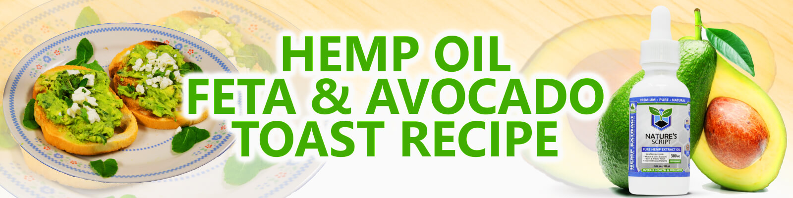 hemp oil avocado toast banner