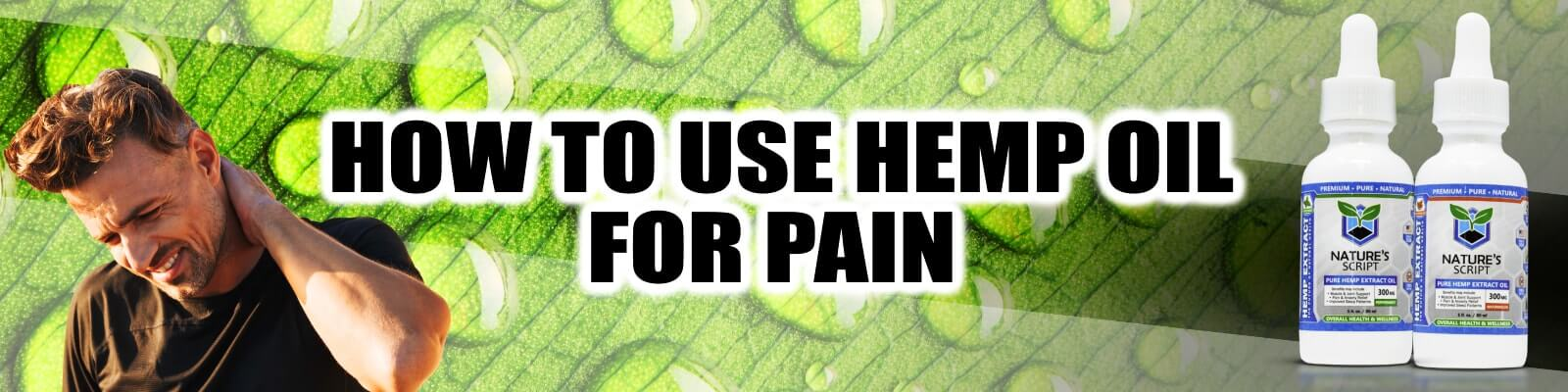 how to use hemp oil for pain