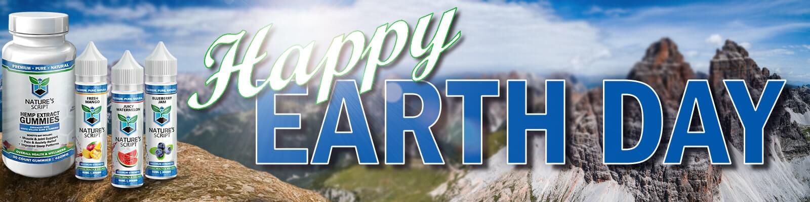 Earth Day Hemp Product Banner