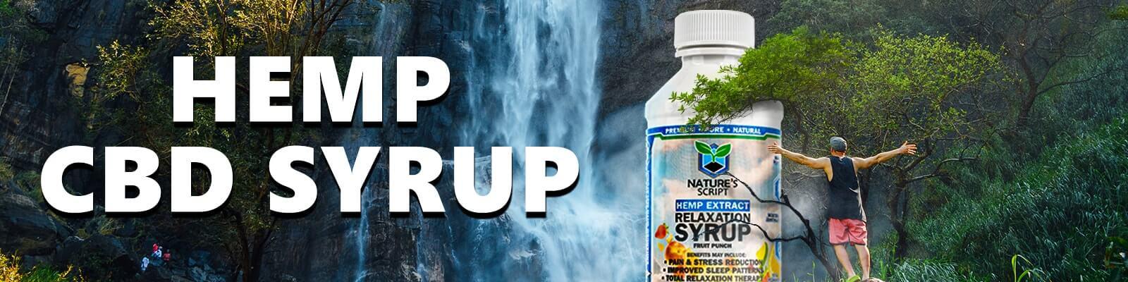 hemp cbd syrup banner