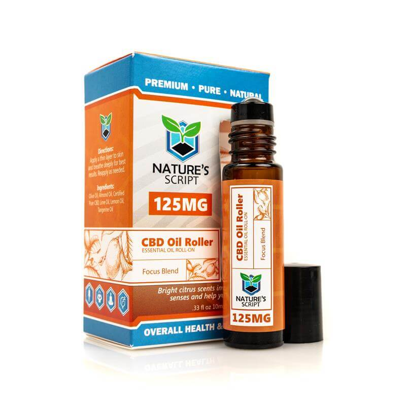 CBD Essential Oil Roller Focus Blend