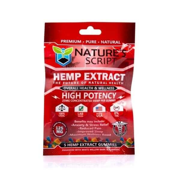 CBD Gummies High Potency 5-count