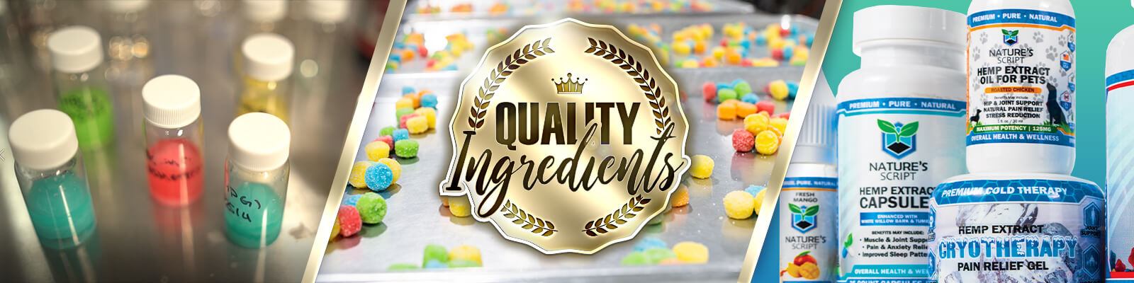 Quality CBD ingredients banner